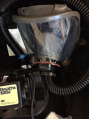 New 3m Rrpas Breathe Easy Turbo Respirator Med. Gas Mask Niosh  Cost 1189.00