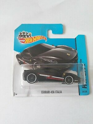Hotwheels Ferrari 458 Italia Black Short Card!