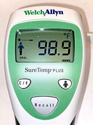 Welch Allyn Suretemp 690 Thermometer Works Well No Probe No Blue Well Holder.