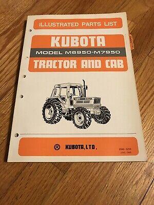 Genuine Original Kubota M6950 M7950 Tractor Parts Book Catalog Manual