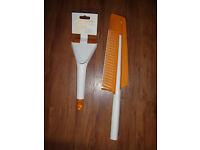 Fiskars SnowXpert Eiskratzer /& Schneebürste Eis Kratzer Weiß Orange 67.5 cm