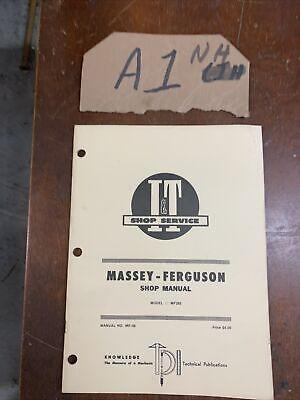 Massey-ferguson It Shop Manual Mf285 Tractors Mf-36