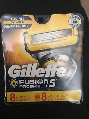 Gillette Fusion ProShield Razor Refill Cartridges 8 Count Blades Shave