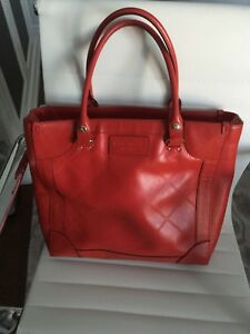 KATE SPADE Gorgeous large poppy red leather purse authentic