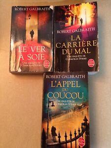 Collection 3 livres écrits par Robert Galbraith