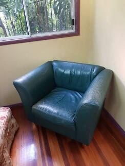 Leather Armchair - Green