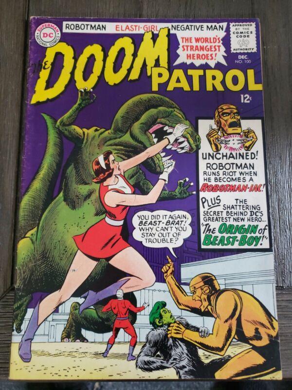 Doom Patrol #100    DC 1965    Origin of Beast Boy