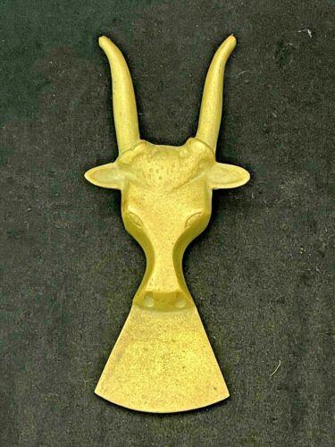 """Vintage Longhorn Steer Bull Heavy Brass Boot Jack Puller Western Cowboy 9-1/4"""""""