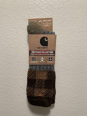Carhartt Men's Heritage Collection Wool Blend Crew Socks L