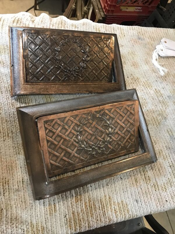 J 43 Two Available Price Each Wall Mount Cast-Iron Heat Grate 10 x 16