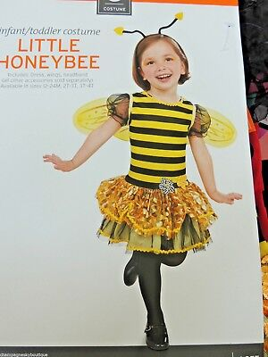 NWT Girls Size 3T - 4T  * LITTLE HONEYBEE *  Halloween Costume Bumble - Little Bumble Bee Infant Toddler Halloween Costume