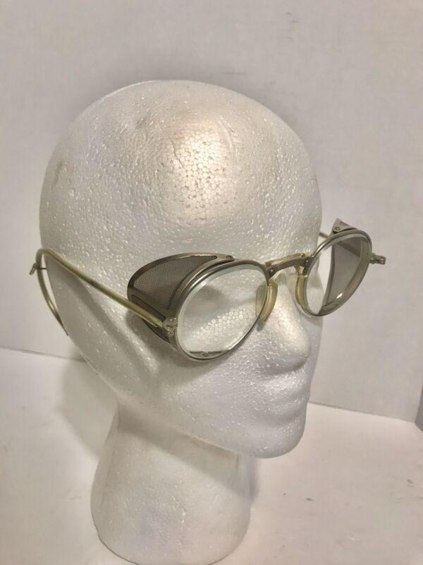 Vintage Original Cesco Spectacle Safety Side Shield Glasses Goggles Eyeglasses
