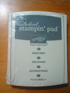 Stempelkissen StempelPad stampin up Archivtinte permanent Aquarell Anthrazitgrau