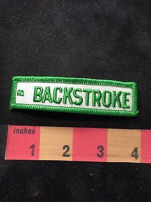 Vtg Green On White BACKSTROKE B Tab Patch 00XC
