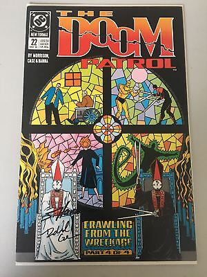 Doom Patrol (1987 2nd Series) #22 Signed by Richard Case and Scott Hanna VF Very