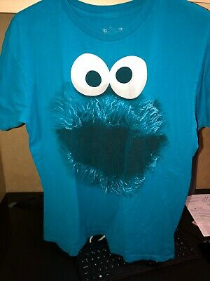 Cookie Monster Tee Shirt Size L Great Halloween Costime Idea  - Halloween Cookie Ideas