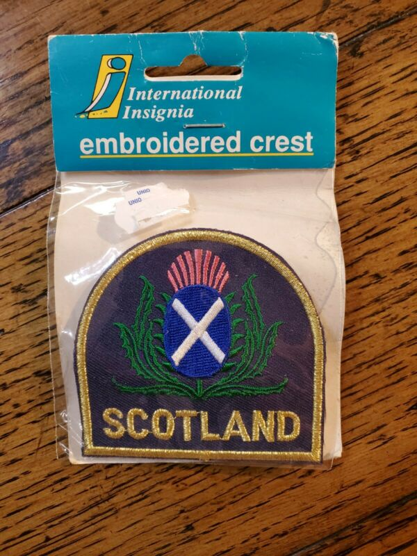 Scotland Thistle LGE Embroided Sew On Patch