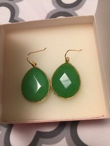 Stella and dot emerald earrings