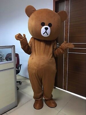 Brown Bear and Cony Rabbit Mascot Costume Party Clothing Fancy Dress Hot Sale