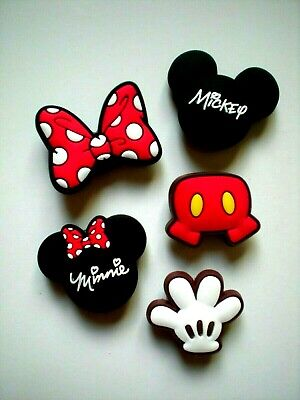 Accessory For Minnie Mouse (Shoe Hole Charm Button For Crocs Accessories Fits Jibbitz Bracelet Minnie)