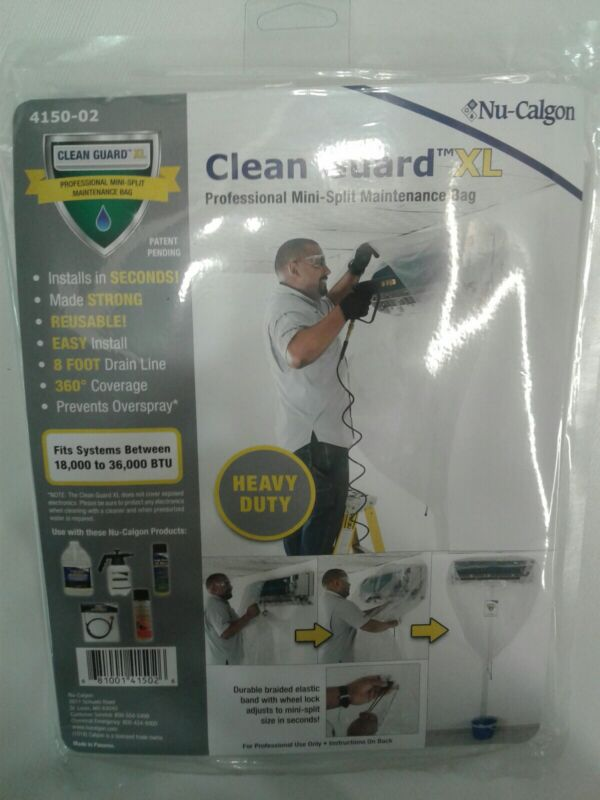 Nu-Calgon 4150-02 Clean Guard XL Mini-Split AC Maintenance Cleaning Bag