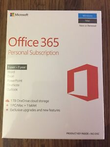 Office 365.   1 year subscription