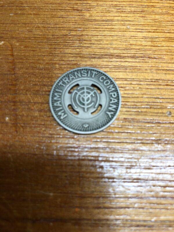 Miami Transit Company Miami, Florida Transit Token Vintage Coin!!!!!