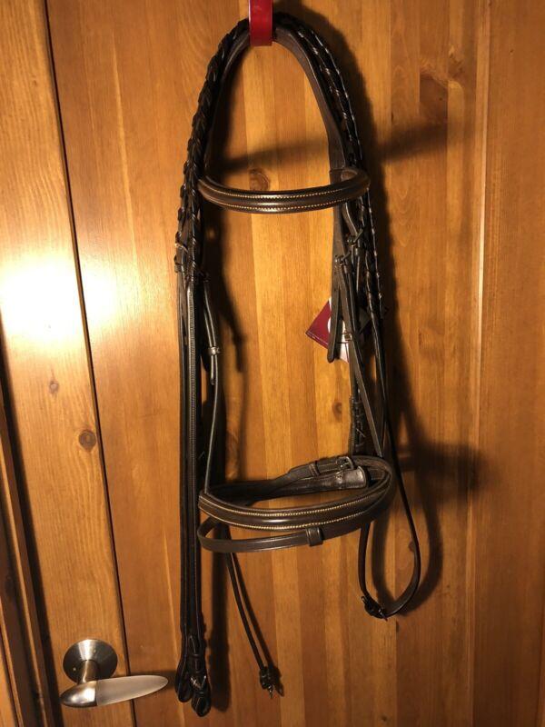 NWT Bobby's English Tack monocrown bridle Brown