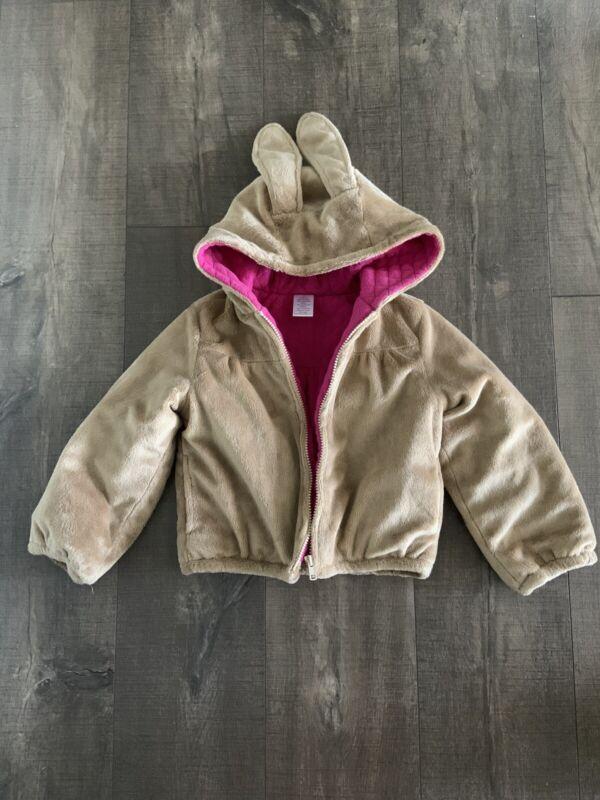 Gymboree Bunny Faux Fur Jacket Size 5T EUC
