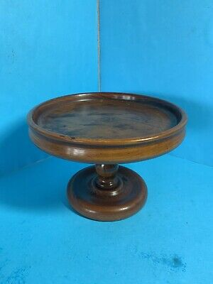 Vintage Solid Walnut Tazza - Cake Stand - Fruit Bowl - Free Postage -