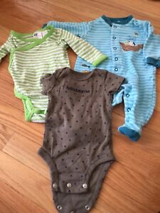 EUC Baby Boy Mixed Clothing Lot 3 Month 3pcs H&M Carter's