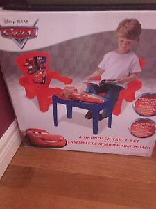 Still in box Children's table and chair set - cars  St. John's Newfoundland image 1