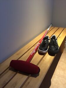 Curling starter kit- broom and shoes size 7-7.5