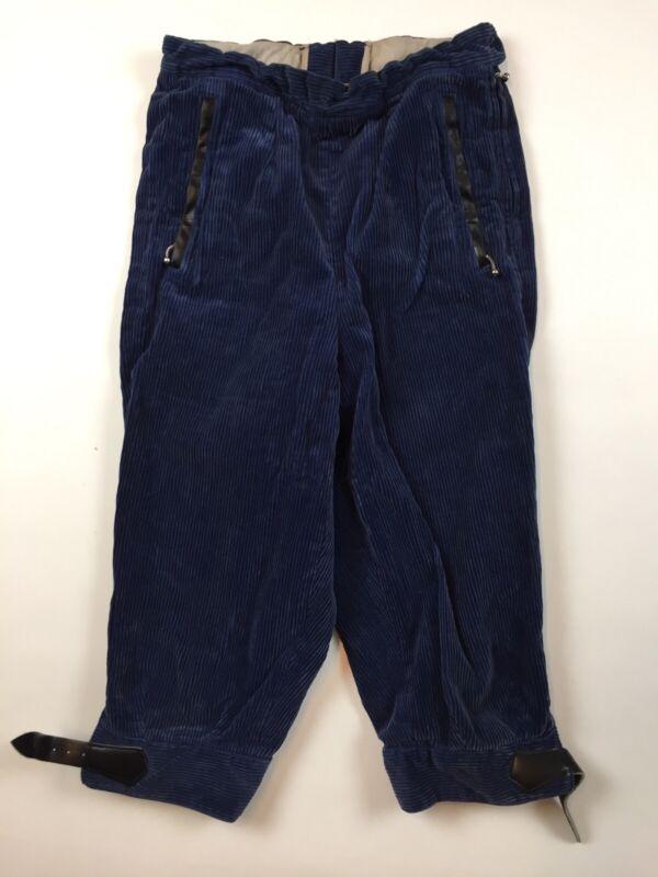 "Vintage 40s 50s Original Obermeyer Cotton Corduroy Knickers 23"" waist Blue U26"