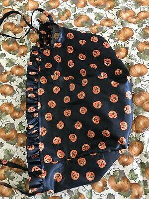 Longaberger 1995 Large Pumpkin Basket Liner- Boo Halloween Liner