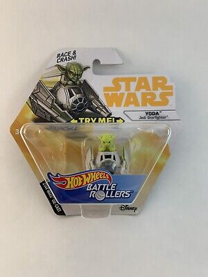 Hot Wheels Battle Rollers - YODA - Licensed & NEW - 887961534351