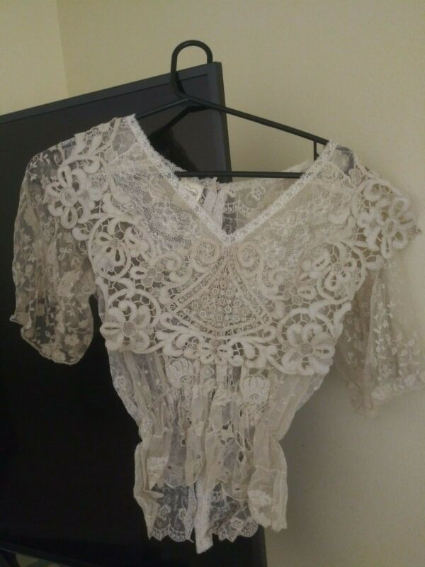 Pat Kerr London Lace Blouse Made from Antique Lace