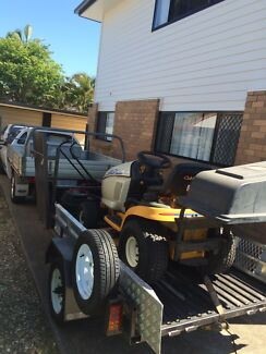 Mowing Trailer with Ride On and Push Mower Rochedale South Brisbane South East Preview