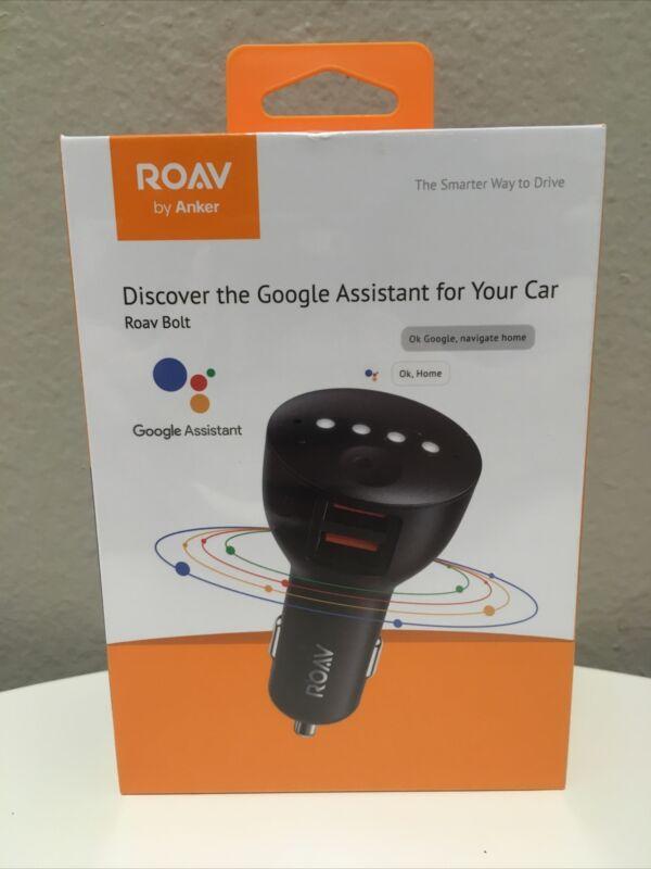 Anker ROAV Bolt 2-Port USB Car Charger with Google Assistant R5360 Black Sealed