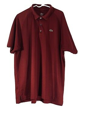 Lacoste Mens Red Polo Shirt Size 8