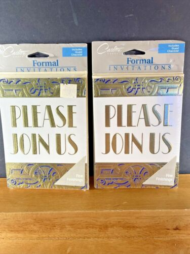 VTG NOS 2X Carlton Cards Invitations  Please Join Us  8 Count EARLY 80