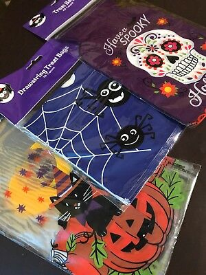Halloween Treat Candy Bags Total Of 58 Bags Designs Skull Cat Pumpkin Spiders (Halloween Pumpkin Designs Spider)