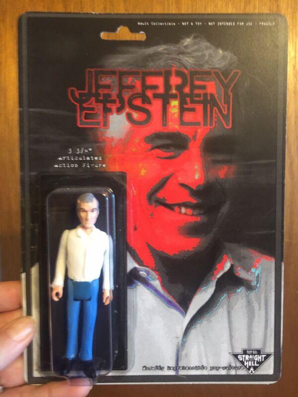 Jeffery Epstein Handmade Action Figure Toy True Crime Cult Celebrity Collectible