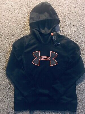 NEW $55 UNDER ARMOUR Cold Gear size M MEDIUM women's GRAY HOODIE Top clothes