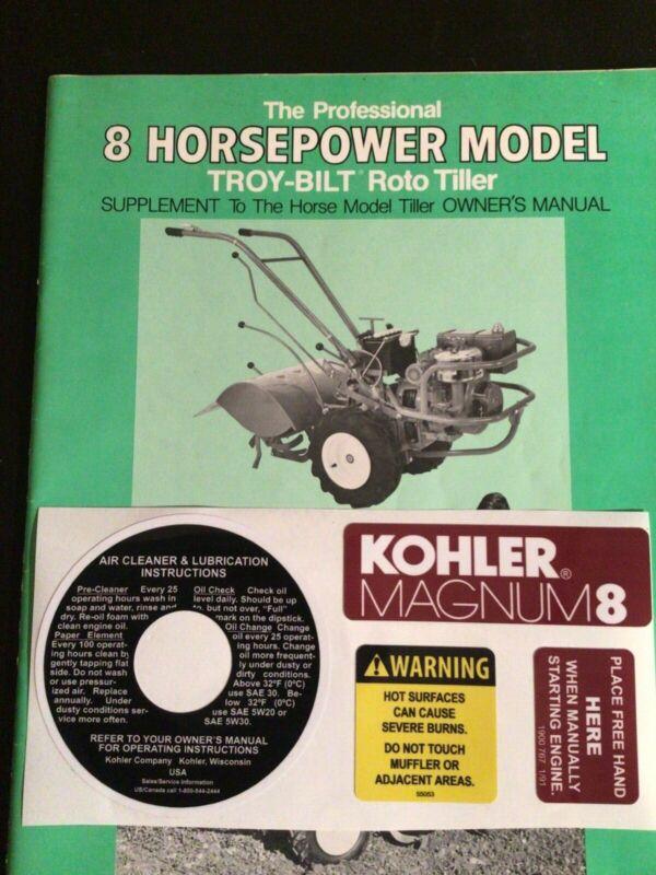Troy Bilt 8 Horsepower KOHLER MAGNUM 8