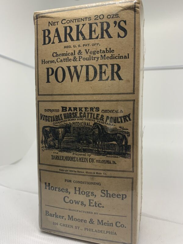Dated 1914  Bakers veterinary remedy box