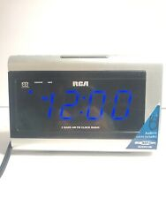 RCA Digital 2-Band AM/FM Dual Wake Alarm Clock Radio (Model: RP-5430A ) Blue LED