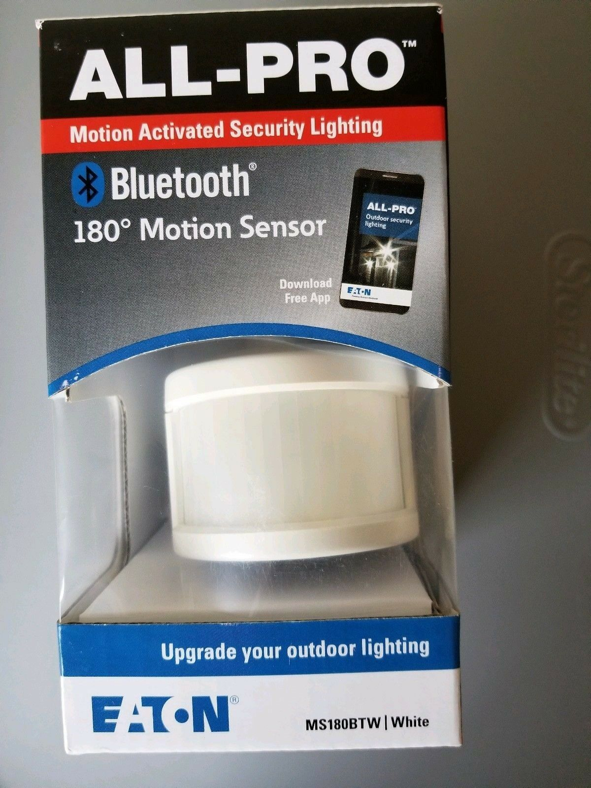 All-Pro Bluetooth Enabled Eaton White 180 Motion Sensor Outd
