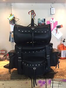 Leather touring bag