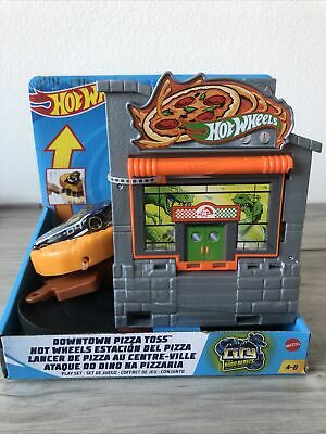 NEW Hot Wheels Downtown Pizza Toss Track Set City Robo Beasts Free Shipping
